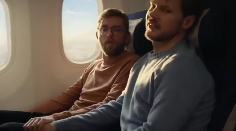 British Airways Centenary gay couple